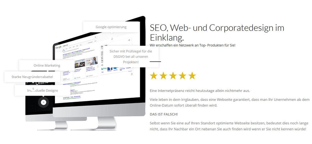 SEO, Webdesign in 67808 Steinbach am Donnersberg