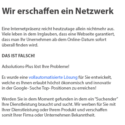 Internetwerbung in 67759 Nußbach